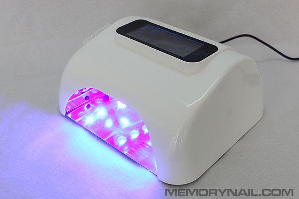เครื่องอบเจล LED ใหญ่ หน้าจอดิจิตอลใหญ่ 48 วัตน์ สีขาว