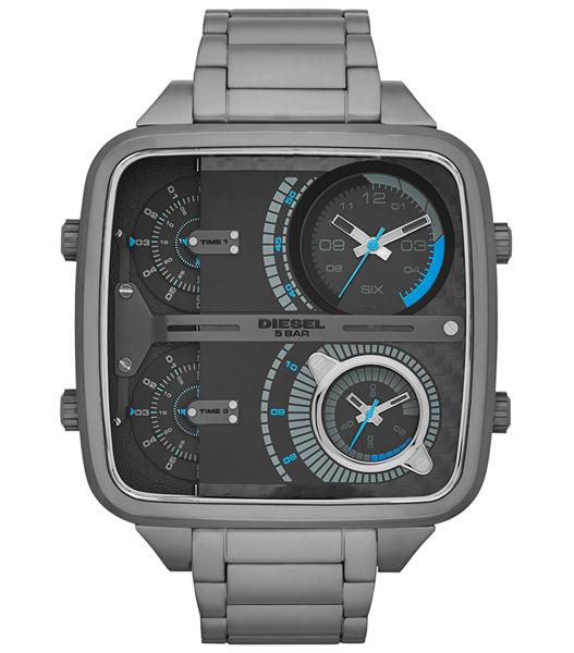 นาฬิกาข้อมือ ดีเซล Diesel Mr. Daddy - Square 4 Time Zone Gunmetal Men's watch รุ่น DZ7284