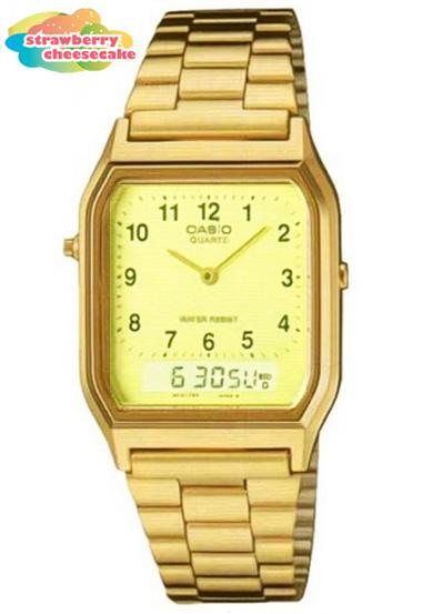 นาฬิกา คาสิโอ Casio STANDARD ANALOG-DIGITAL รุ่น AQ-230GA-9B