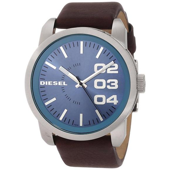 นาฬิกาข้อมือ ดีเซล Diesel Brown Leather Strap Blue Dial Men's Watch รุ่น DZ1512