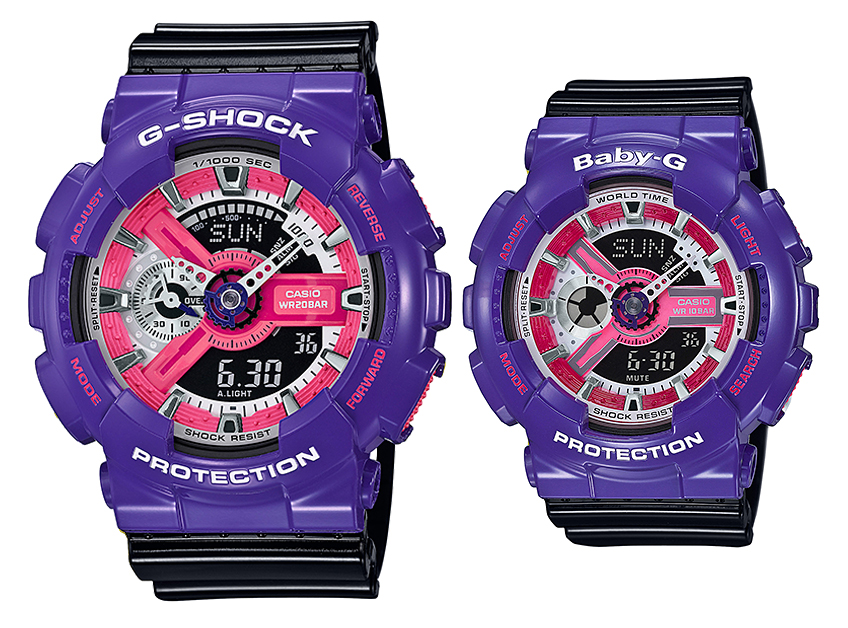 นาฬิกา คาสิโอ Casio G-Shock SETคู่รัก รุ่น GA-110NC-6A x BA-110NC-6A Pair set ของแท้ รับประกัน 1 ปี