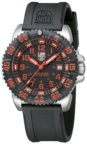 นาฬิกา Luminox รุ่น LUMINOX 3165 Men's Red Numeral Steel Colormark Watch