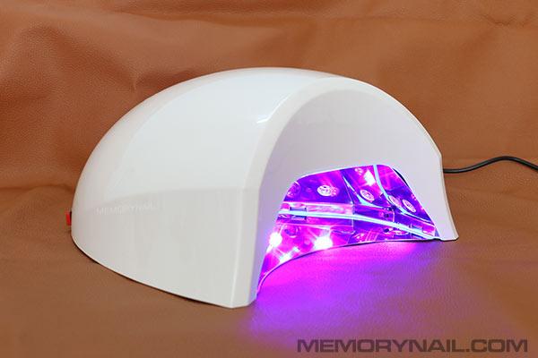 เครื่องอบเจล LED ใหญ่ ทรงไข่ มีจอดิจิตอล 45 วัตน์ สีขาว