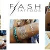 แวววาว สติกเกอร์แทททู สีทอง เมทัลลิก Flash Tattoo