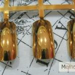 เล็บปลอม สีทอง แบบแผง PC-01