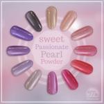 Sweet Passionate Pearl Powder ผงมุกโทนสีชมพูม่วง ชุด12เชดสี แถมแปรงขัด 12 ชิ้น