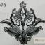 YM-K076 สติ๊กเกอร์สักแฟชั่น sticker tattoo ลายลูกไม้ โบ15.5x10.8 cm thumbnail 4