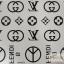 YM-K071 สติ๊กเกอร์สักแฟชั่น sticker tattoo ลายLV 15.5x10.8 cm thumbnail 1