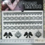 YM-K076 สติ๊กเกอร์สักแฟชั่น sticker tattoo ลายลูกไม้ โบ15.5x10.8 cm thumbnail 2