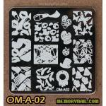 เพลทปั้มลายเล็บ รหัส OM-A-02