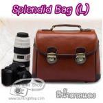 กระเป๋ากล้องแฟชั่นเกาหลี Charming Bag (L) สีน้ำตาลแดง