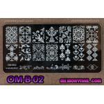 เพลทปั้มลายเล็บ รหัส OM-B-02