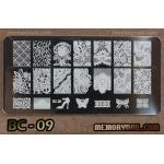 เพลทปั้มลายเล็บ รหัส BC-09