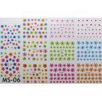 สติ๊กเกอร์ติดเล็บ แผ่นใหญ่ รหัส MS-06