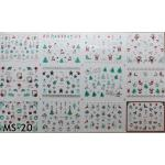 สติ๊กเกอร์ติดเล็บ แผ่นใหญ่ รหัส MS-20