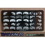 เพลทปั้มลายเล็บ รหัส TIAN-XIN-20