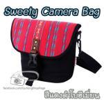กระเป๋ากล้องรุ่น Sweety สำหรับ DSLR & Mirrorless สีแดงดำโบฮีเมี่ยน