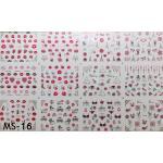 สติ๊กเกอร์ติดเล็บ แผ่นใหญ่ รหัส MS-15