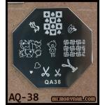 เพลทปั้มลายเล็บ รหัส AQ-38