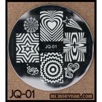 เพลทปั้มลายเล็บ ลายวันวาเลนไทน์ JQ-01