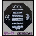 เพลทปั้มลายเล็บ รหัส AQ-49