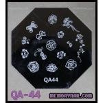 เพลทปั้มลายเล็บ รหัส AQ-44