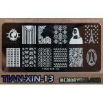เพลทปั้มลายเล็บ รหัส TIAN-XIN-13