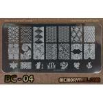 เพลทปั้มลายเล็บ รหัส BC-04