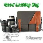 กระเป๋ากล้องแฟชั่นเกาหลี สวยๆ Good Looking Bag สีเขียวทหาร (Pre Order)