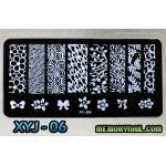 แผ่นปั๊มลายเล็บ รหัส XYJ-06