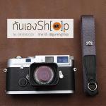 สายคล้องกล้อง cam-in สีพื้นเส้นเล็ก สีเทา แบบห่วง 25 mm