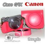 เคสกล้องหนัง Case Canon G9X Powershot แคนนอน g9x สีชมพูเข้ม