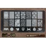 เพลทปั้มลายเล็บ รหัส BC-08
