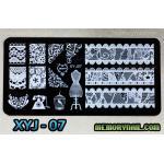 แผ่นปั๊มลายเล็บ รหัส XYJ-07