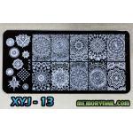 แผ่นปั๊มลายเล็บ รหัส XYJ-13
