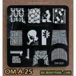 เพลทปั้มลายเล็บ รหัส OM-A-25