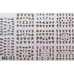 สติ๊กเกอร์ติดเล็บ แผ่นใหญ่ รหัส MS-03
