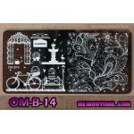 เพลทปั้มลายเล็บ รหัส OM-B-14