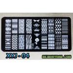 แผ่นปั๊มลายเล็บ รหัส XYJ-04