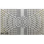 สติ๊กเกอร์ติดเล็บ แผ่นใหญ่ รหัส MS-09