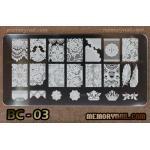 เพลทปั้มลายเล็บ รหัส BC-03