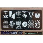 เพลทปั้มลายเล็บ รหัส TIAN-XIN-15