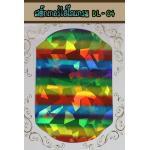 สติ๊กเกอร์ติดเล็บ ไฮโลแกรม-DL-04