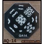 เพลทปั้มลายเล็บ รหัส AQ-14