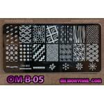 เพลทปั้มลายเล็บ รหัส OM-B-05