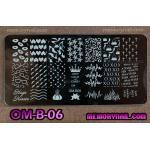 เพลทปั้มลายเล็บ รหัส OM-B-06