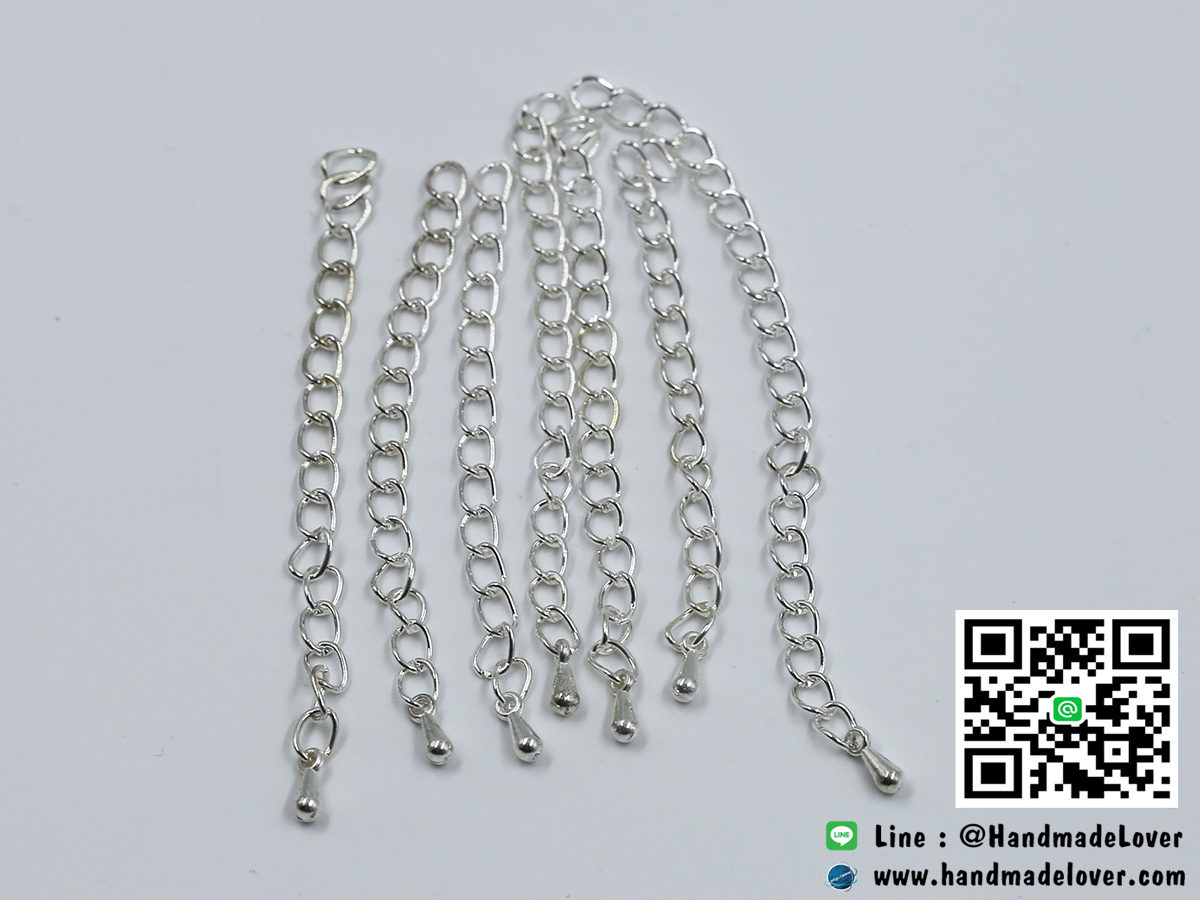 โซ่ปรับระดับ Nickel Free สีเงิน [งานจีน] [แพ็ค 10 ชิ้น]