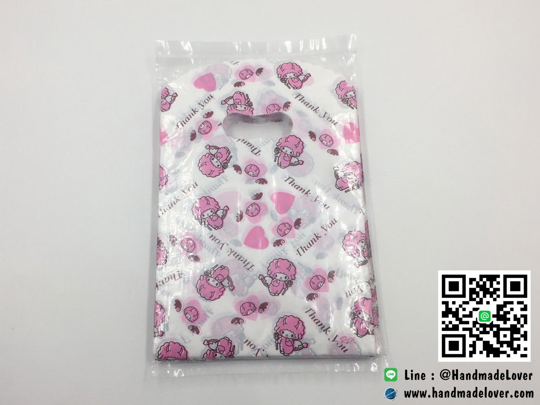 ถุงพลาสติก สีชมพู ลายการ์ตูนเล็ก ขนาด 5*8 นิ้ว [แพ็ค 100 ชิ้น]