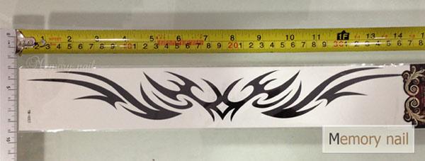 YM-H สติ๊กเกอร์ลายสัก แบบใหญ่ยาว 37 x 6 cm คลิกเลือกแบบด้านใน