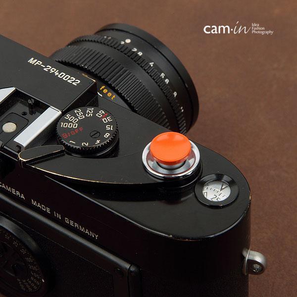 Soft Shutter Release ปุ่มเว้าลง สีส้ม กดง่ายสะดวก สำหรับ Fuji XT10 X10 X20 X30 X100 XE1 Leica ฯลฯ